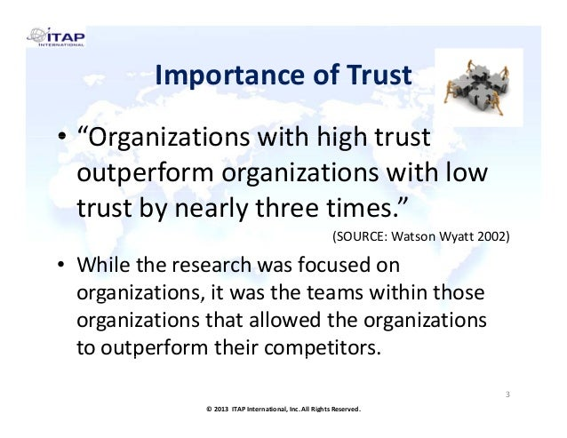 example is of build trust in team