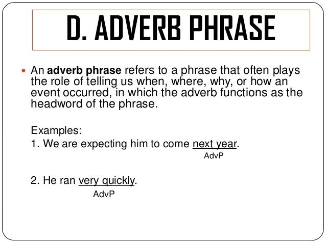 give 5 example of adjective phrase