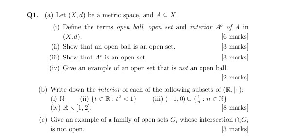 define an open set give an example