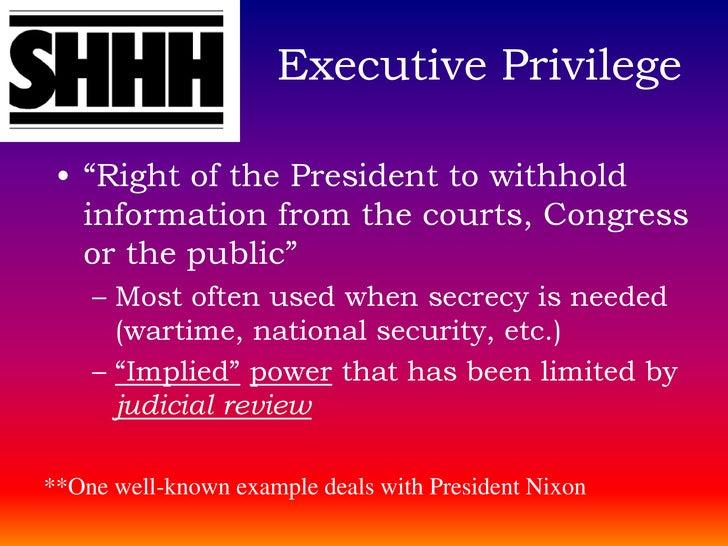 example of executive power australia