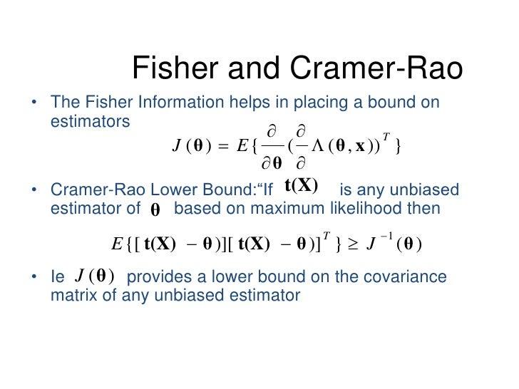 cramer rao lower bound example