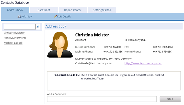 example access client 2010 macros