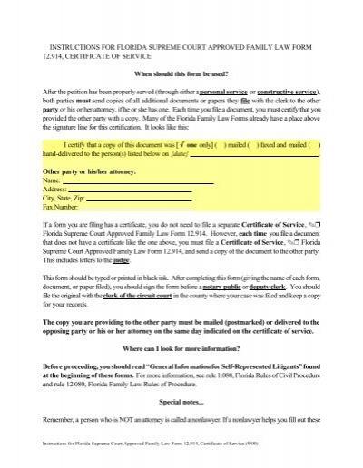 example federal circuit court migration affidavit