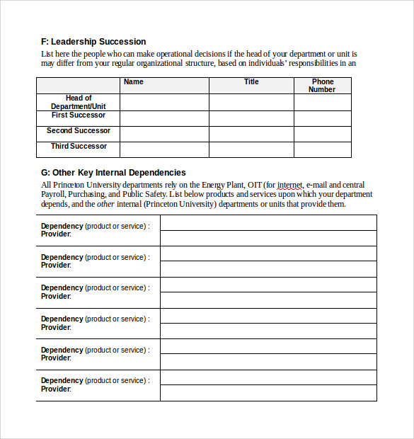 example of an ict related template for documentation