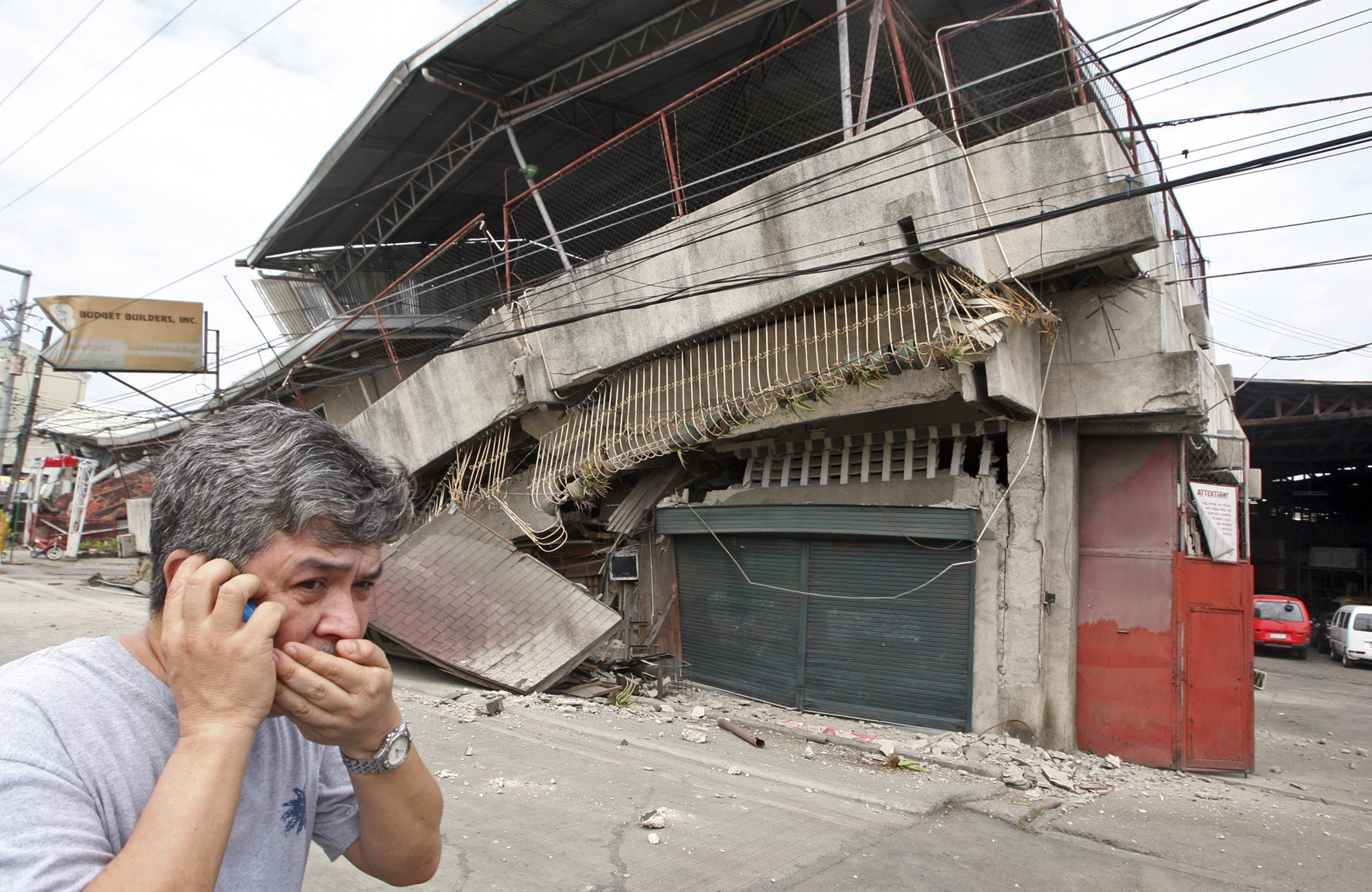 example of earthquake in the philippines