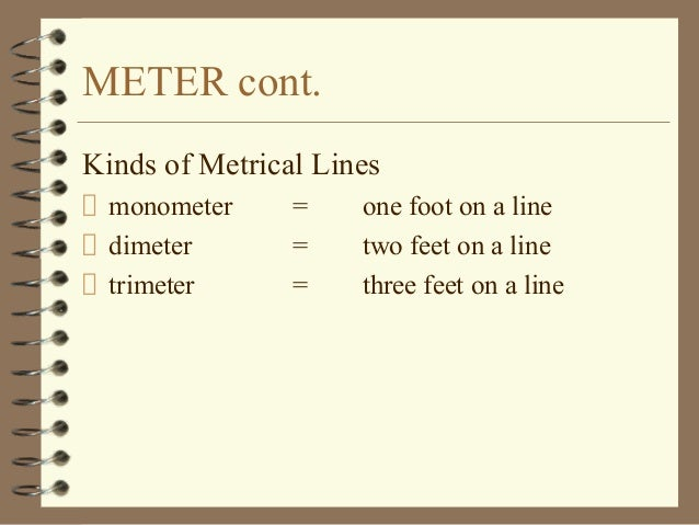 example of metrical line in poetry