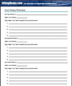 example of personal goal setting for work