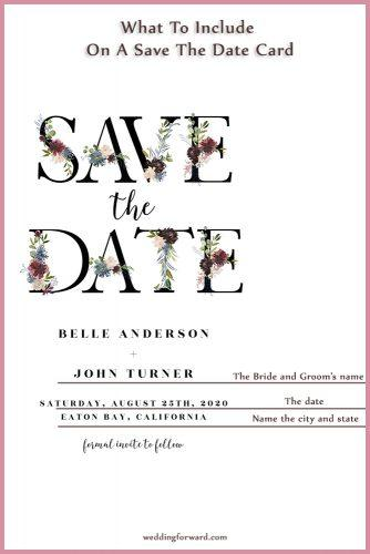 example of save the date email