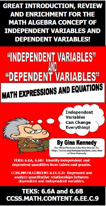 dependent variable example for kids