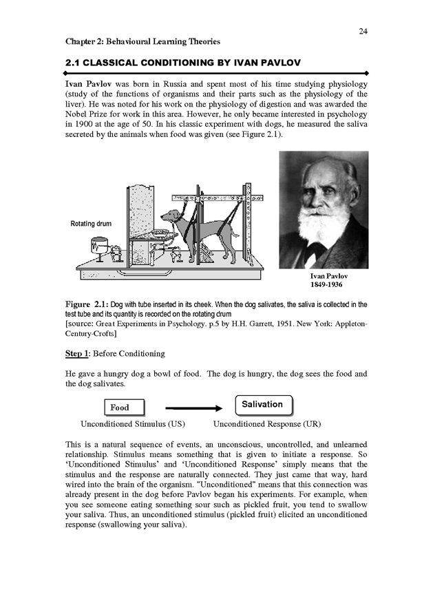 what is an example of classical conditioning in psychology
