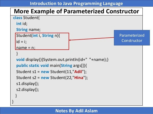 what is constructor in java with example