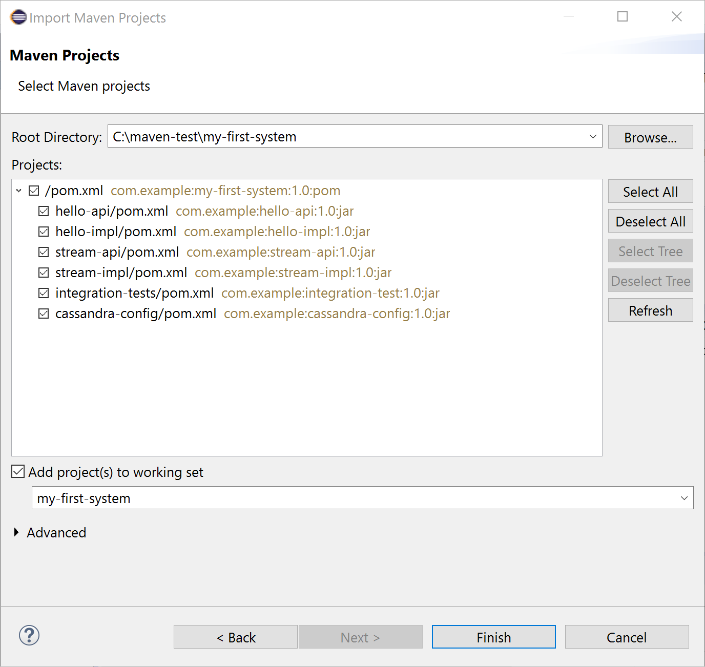 maven java project example in eclipse