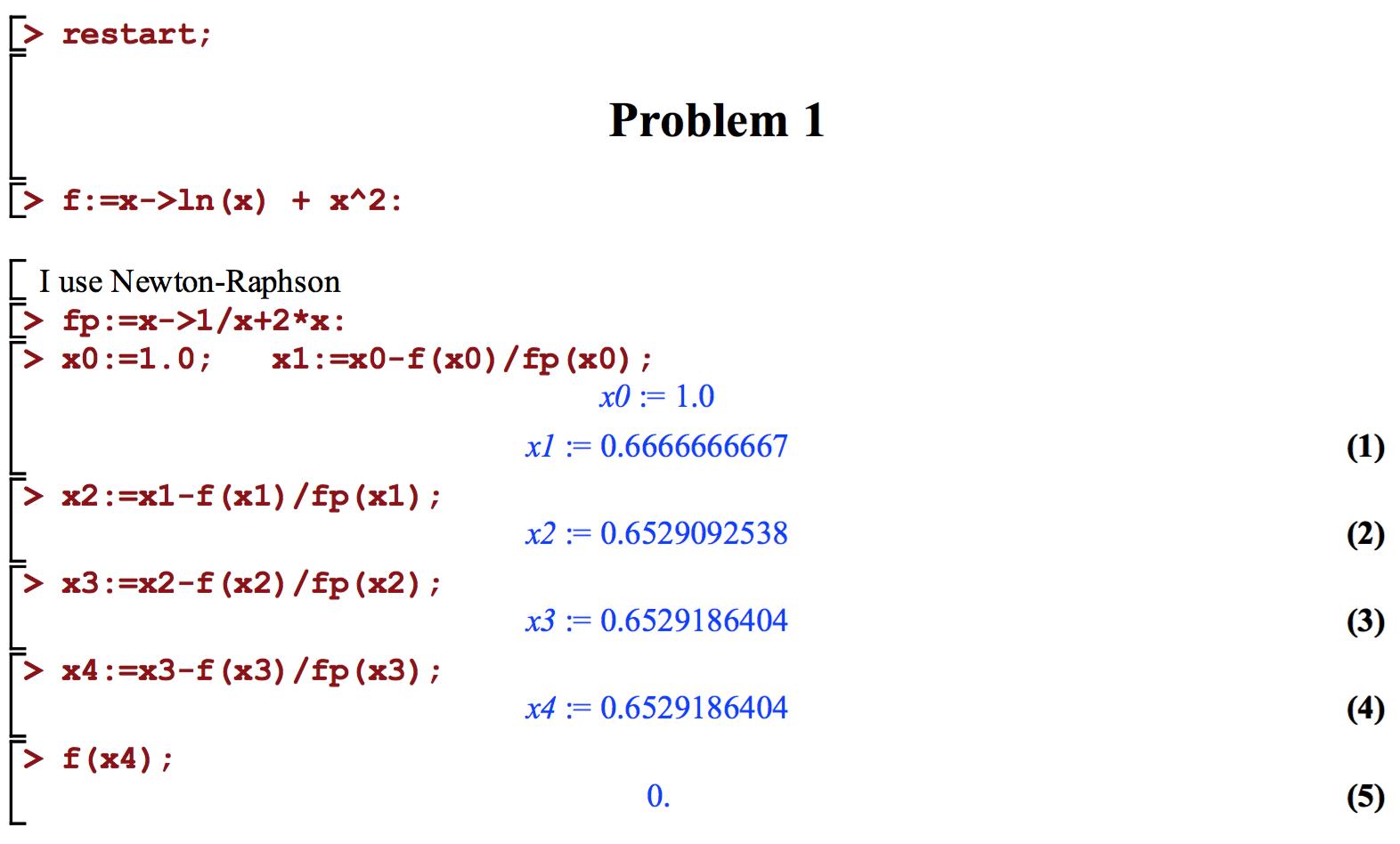 newton raphson method example problems