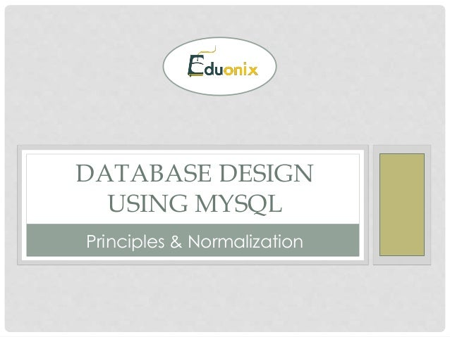 normalization in mysql database with example