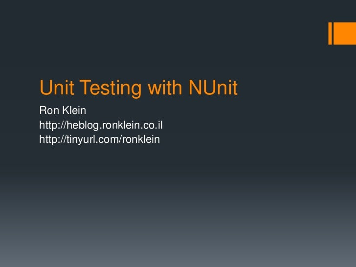 nunit testing in net example