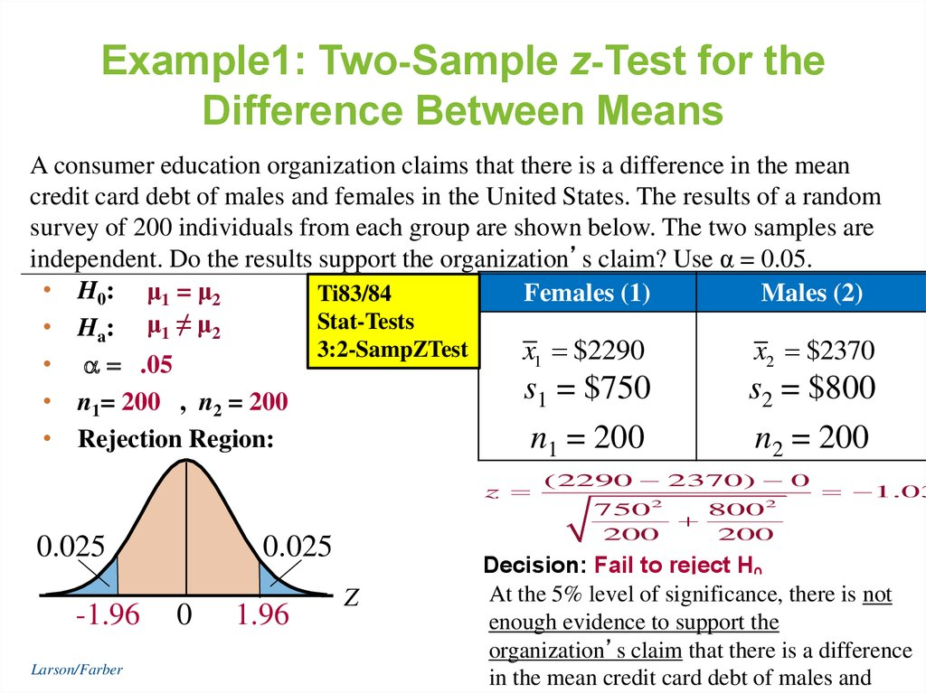 one sample t test example ppt