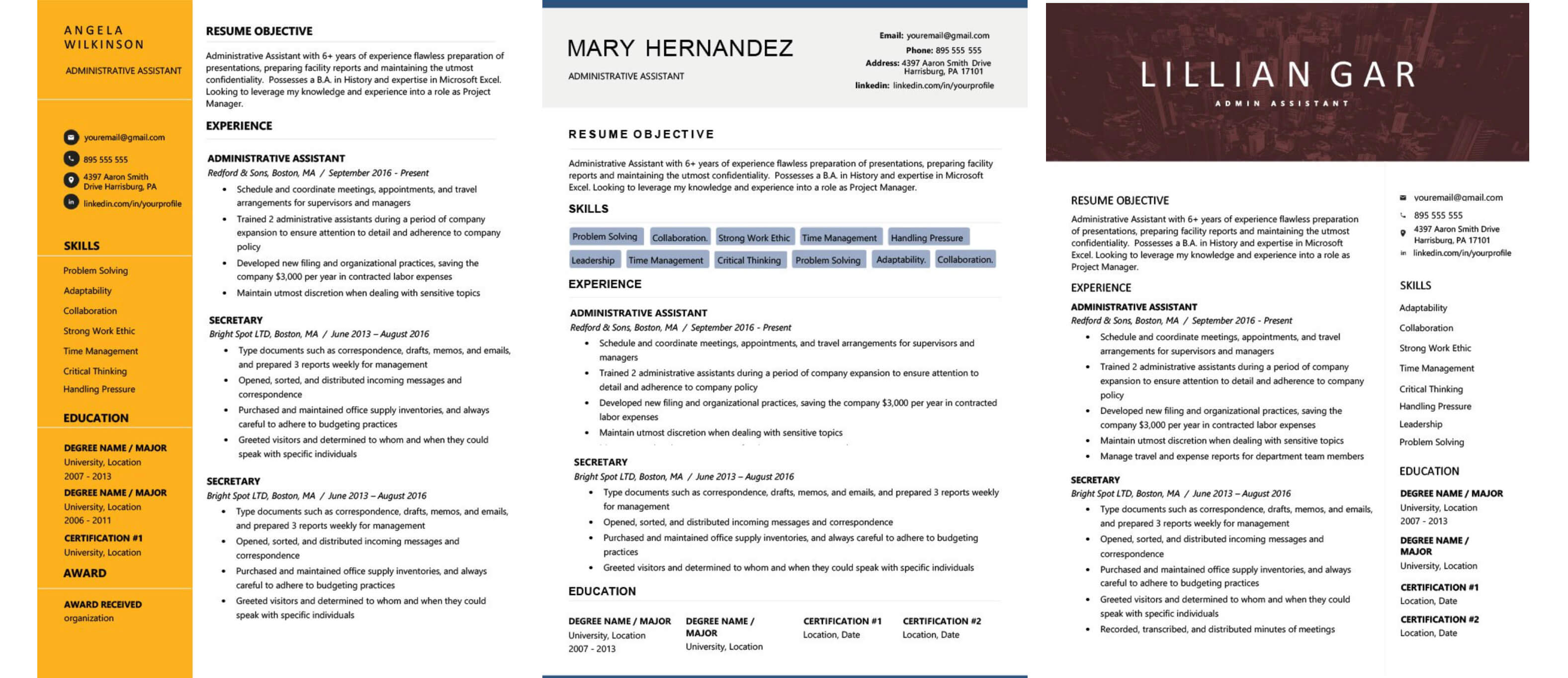 personal shopper beginner cv example