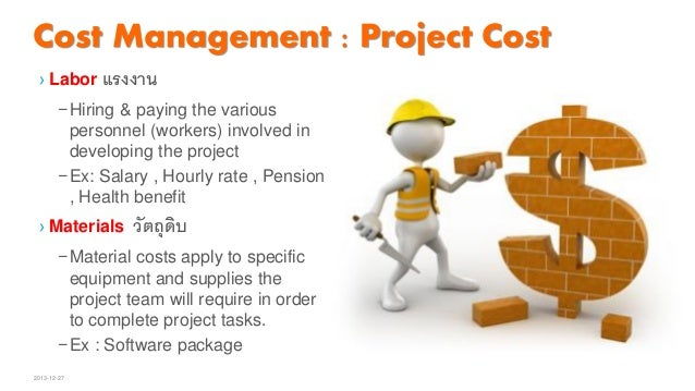 ple example of earned cost management
