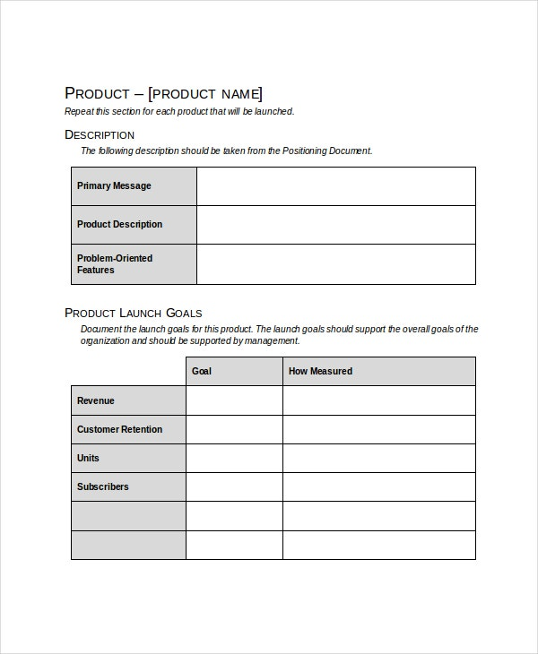 product launch plan example pdf