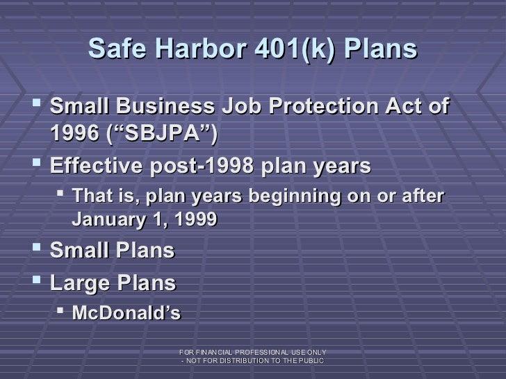 safe harbor 401k match example