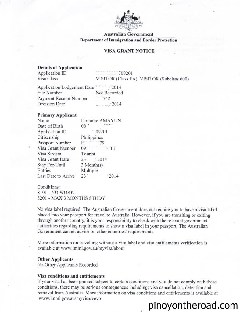statutory declaration australia immigration example