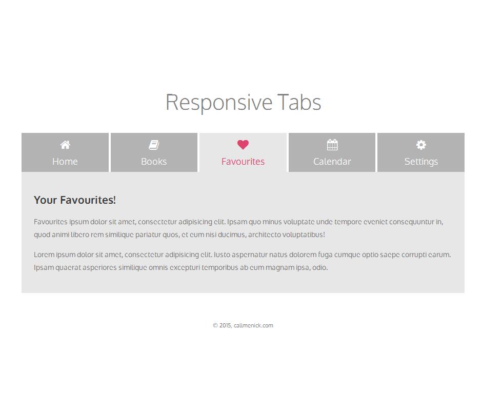 tab menu html code example