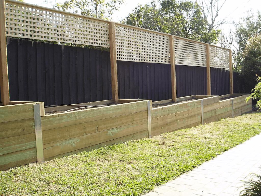 timber retaining wall design example australia