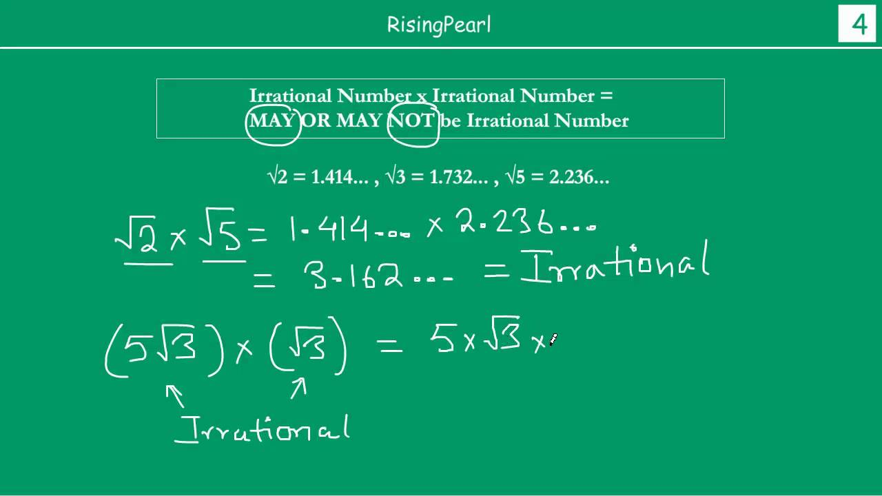 what is an irrational number example