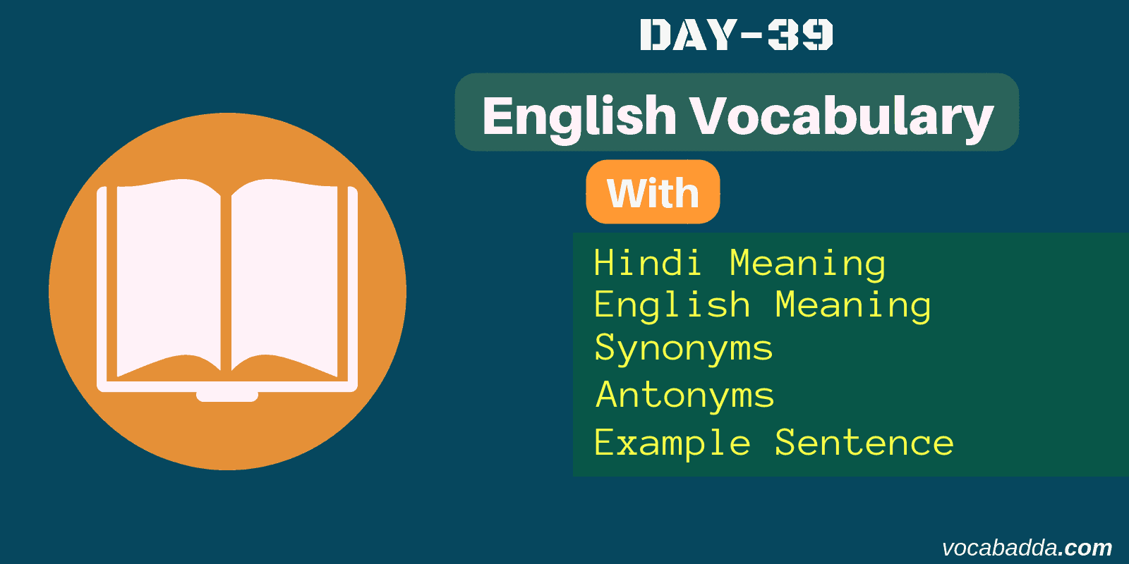 word of the day and example sentence